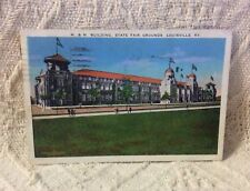 Vtg Postcard M. & M. Building, State Fair Grounds, Louisville, KY - Posted
