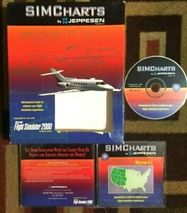 Simcharts By Jeppensen For Microsoft Flight Simulator 2000 Boxed