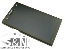 Original Sony Xperia S LT26i Display LCD Cover Touchscreen Glas Scheibe schwarz
