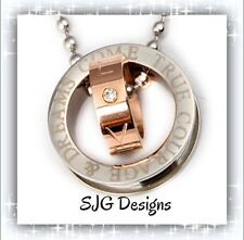 """COURAGE & DREAMS COME TRUE (Insperational) -925 Silver Plated SNAKE18""""chain"""
