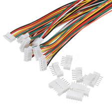 10Pcs Mini Micro JST 2.0mm PH 6-Pin Mâle Femelle Connecteur Plug Avec Câble 30cm