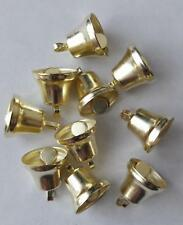 10 LOVELY GOLD METAL LIBERTY BELLS for Christmas Craft/Wedding Crafts