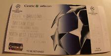 Ticket for collectors CL Celtic Glasgow FC Barcelona 2004 Scotland Spain