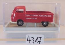 Brekina 1/87 Nr. 32909 Volkswagen Bulli VW T1b Pritsche Moto Guzzi OVP #4317