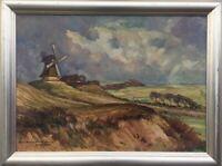 Impressionist Hermann Wehrmann 1897 - 1977 Glückstadt Windiger Tag Schleswig H.