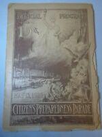 RARE WW1 Citizens Preparedness Parade 1916 Official Program New York's Largest