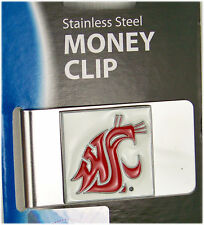 College Money Clip Washington State Cougars