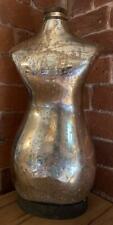 Vintage style Glass Female Torso - Silver Mercury Distressed Colour - H 43cm