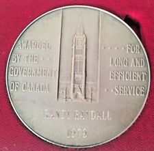 1979 35 YEAR 4 OZ SILVER LONG AND EFFICIENT SERVICE MEDALLION W/Case & Letter