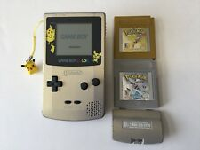 Nintendo Game Boy Color POKeMON Pikachu & Pichu + Gold & Silver + NEW SAVE BATT2