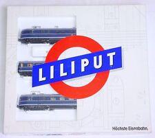Liliput HO 1:87 VT 06 DEUTSCHE BUNDESBAHN 1958 DIESEL MULTIPLE UNIT SET MIB RARE