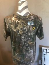 NEW Scent Block Youth Short Sleeve Cotton Shirt Realtree Camo L Hunting Camping