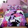 3D Cartoon Cat Collection Bedding Set Duvet Cover Comforter Cover PillowCase 02#