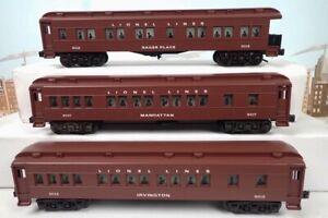 Set Of 3 Lionel O Madison Heavyweight Passenger Cars 6-19015 & 6-19017 & 6-19018