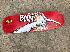 Old School 101 Natas Kaupas Challenger BOOM Screened Reissue Skateboard Deck Red