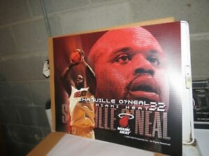 Shaquille O'Neal Miami Heat Basketball Maytag Skybox 1 Panel Set NBA