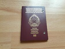 Republic Of Macedonia, Collectible Biometric passport, Cancelled