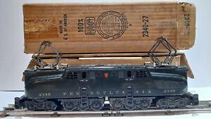 Vintage Lionel 2340 PRR GG-1 Electric Locomotive Dark Green w/BOX