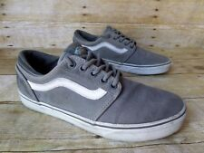 Vans Old Skool Grey Suede Canvas Skateboarding Shoes Men's 8.5 Women's 10