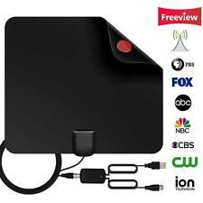 Antenne TNT intérieure numérique HDTV avec amplificateur d'antenne TV 80 miles
