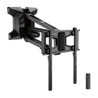"""MOTORIZED Pull-Down Full-Motion Above Fireplace Mantel TV Wall Mount 37"""" to 70"""""""