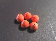 Chinese Red Coral Faceted Onion Beads Top Half Drilled-12x12 mm 6 Piece