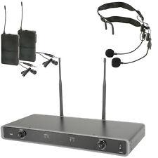 60m Micrófono Inalámbrico Receptor Sistema-Banda de cuello auricular cinturón transmisor