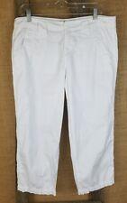 Calvin Klein Jeans Mujer Talla 10 Corto Pantalones Capri Blanco