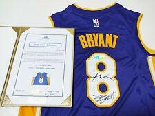 "LA Lakers #8 ""Mamba"" & ""King"" 2 Legends Autographed Jersey COA"