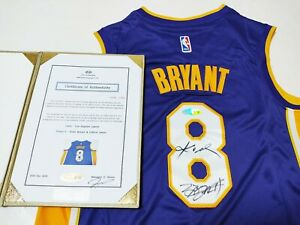"LA Lakers #8 ""Mamba"" & ""King"" 2 Legends Autographed Jersey COA"