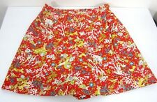 Vtg Old Salem Skort Shorts Skirt Womens Small Red African Animal Tropical Print