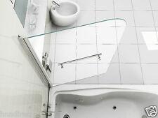 SIMPLE LUXURY 6mm CLEAR GLASS OVER BATH SHOWER SCREEN DOOR WITH TOWEL HANDLE