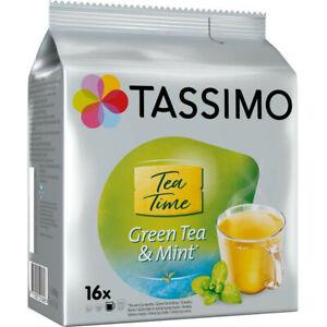 TASSIMO Twinings - Dosettes de Thé vert à la menthe 16 Capsules