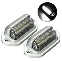 2x Universal 6LED License Number Plate Light Lamps for Truck SUV Trailer Lorry