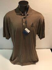 COMO SPORT COBRA Harbor Pines Golf Color: Coffee S/S Cotton Polo Shirt XXL NWT