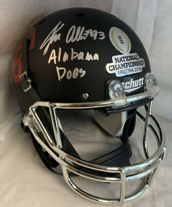 Jonathan Allen Signed Black / Chrome Champs Full Size Helmet JSA Proof Bama Does