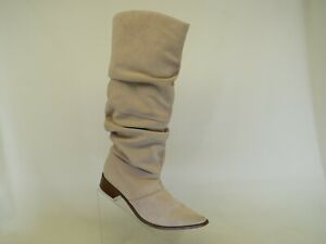 Chinese Laundry Pink Suede Slouch Knee High Fashion Boots Size 8.5 M