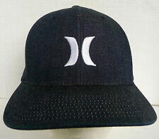 HURLEY FLEXFIT STRETCH TO FIT SMALL MED ADULT OFF BLACK ADULT BASEBALL HAT CAP