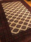 Vintage Handmade Pakistani Bokhara Area Rug 8x10 Geometric Tribal 100% Wool SALE