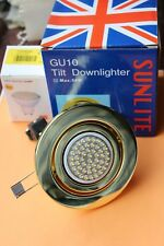Sunlite inclinación GU10 240 V Downlight adjunto Latón Pulido + 2.4 W Bombilla LED RS