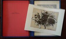 Stampa UMBERTO MASTROIANNI Giardino dei misteri Proust Grafica Arte Ed Seat 1985