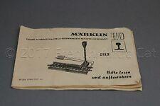 Y090 Marklin train Ho 5112 depliant papier Element voie deteleur Märklin