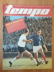 sport magazine TEMPO #215 football Dragan Dzajic basketball CSKA vs Varese 1970