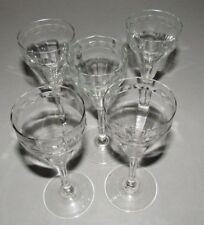 5 SHARRYLÄSER Likörgläser um 1925 feines Dekor ART DECO Gläser Weingläser