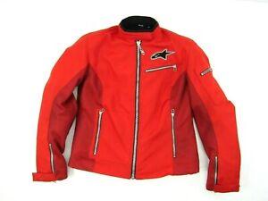 Women Alpinestars Stella Rebel Air-Flo Red Motorcycle Jacket Medium Red Liner M