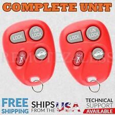 2 For 2001 2002 2003 2004 2005 Chevrolet Impala Keyless Entry Remote Key Fob Red