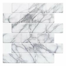 10 Pack Peel and Stick Backsplash for Kitchen Bathroom Self Adhesive Wall Tiles