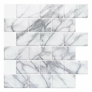 "Subway Backsplash Tiles for Kitchen Peel and Stick, 12""x12"", 10Sheets"