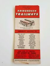 Adirondack Trailways 1971 New York Bus Schedule Brochure Vintage