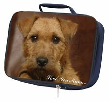 More details for lakeland terrier dog 'love you mum' navy insulated school lunch bo, ad-lt2lymlbn
